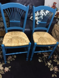 two blue-and-brown wooden windsor chairs Escondido, 92025