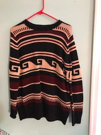 black and red striped sweater 23 km
