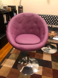 purple leather padded rolling chair 220 mi