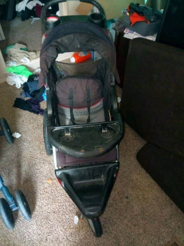 bef033113a8 Used Baby trend car seat base and matching stroller obo for sale in ...