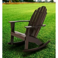 Mainstays Wood Adirondack Rocking Chair, Dark Brow Lawrenceville, 30046
