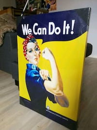 """We Can Do It!"" Canvasbilde  Oslo, 0354"