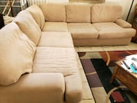 Microfleece sectional sofa couch w/ pillows North Las Vegas, 89031