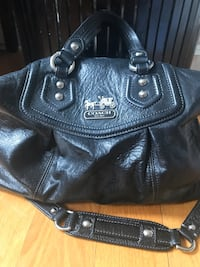 Black leather coach shoulder bag Laval