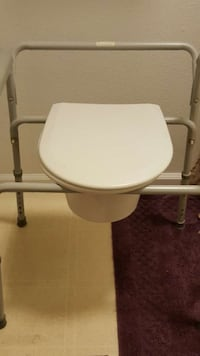 white and gray commode