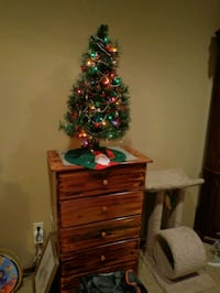 Small Tabletop Christmas Tree with Tree Skirt, Garland, and Ornaments