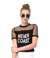 women's black and white crew neck shirt Mumbai, 400102