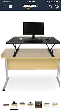 black and gray computer desk Toronto, M3K 1H5