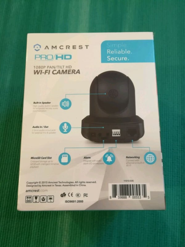 Amcrest ProHD WiFi security wireless IP camera 588b32f9-2ec9-47b4-8384-af135453a3c3