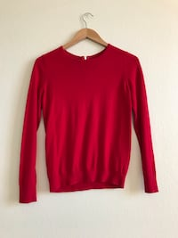 Womens Long sleeve Red Winter  Shirt Size S Fremont, 94538