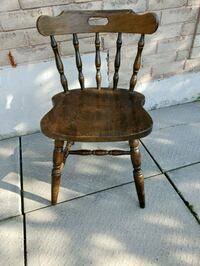 Need gone! 2 Vintage Solid Wood Club Chairs -