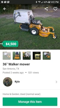 yellow and black ride on mower screenshot 1360 mi