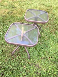 2 glass patio side tables Mississauga