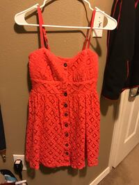 Red spaghetti strap button-up mini dress Hillsboro, 97123