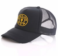 Black and gray fitted cap London, SW19