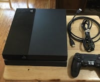 Black sony ps4 console with controller Rosharon, 77583