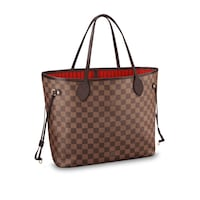 Cabas Louis Vuitton en cuir marron et noir