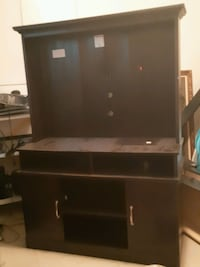 black and brown wooden TV hutch Longueuil, J4T 2V7