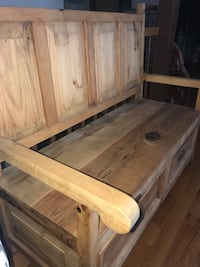 Pine Bench with lots of storage!! Solid sturdy piece.