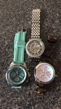 Fossil watches - women. ( green is $50, brown is $60 and silver is $80 - no battery needed, works with hand movements) Brampton, L7A 3R3