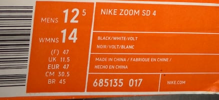 Throwing shoes | NIKE ZOOM SD 4 |