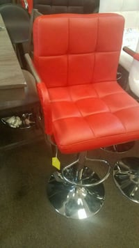red and black leather padded rolling chair Houston, 77077