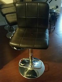 black leather padded bar seat 4 New Westminster, V3M 1K1
