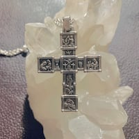 Rare James Avery 50th Anniversary Life Of Jesus Cross Pendant Retired Sterling Silver Chantilly, 20151