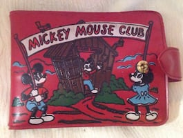 Original Micky Mouse Club plastic wallet.