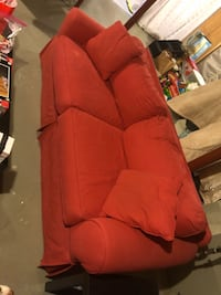Red Sofa Couch Westchester, 60154