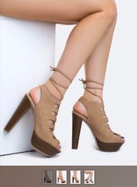 New Sexy Lace up Platform Heels-8.5 Breckelle's- Vacation Ready! Alexandria, 22314