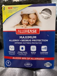 Allerease Maximum Allergy & Bed Bug Protection Zippered Mattress Prot. Charlotte, 28213