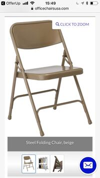 2 pieces of Brown Steel folding chair Aventura, 33180