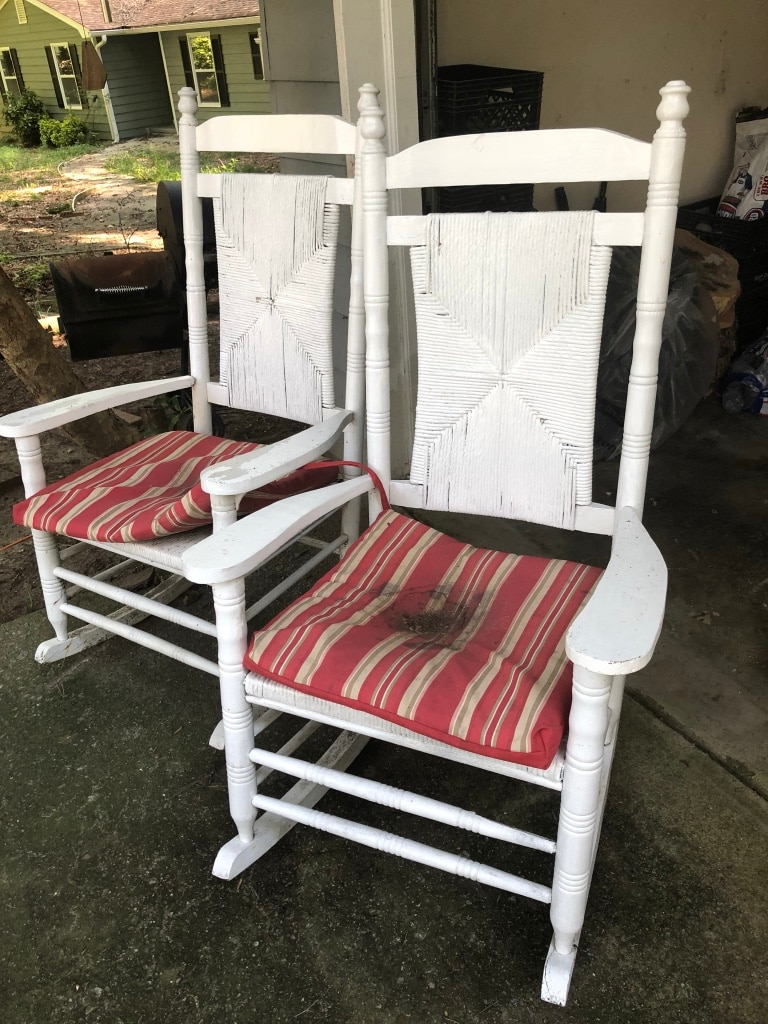 used white wicker rocking chairs 30 not nego for sale in rh gb letgo com