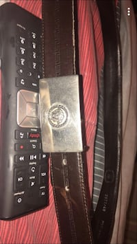 brown Versace leather belt