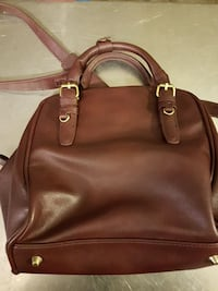 brown leather hand bag with sling 3725 km