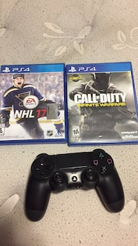 Ps4 controller and 2 games