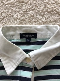 authentic BURBERRY stripe polo  Burnaby, V5B 0A2