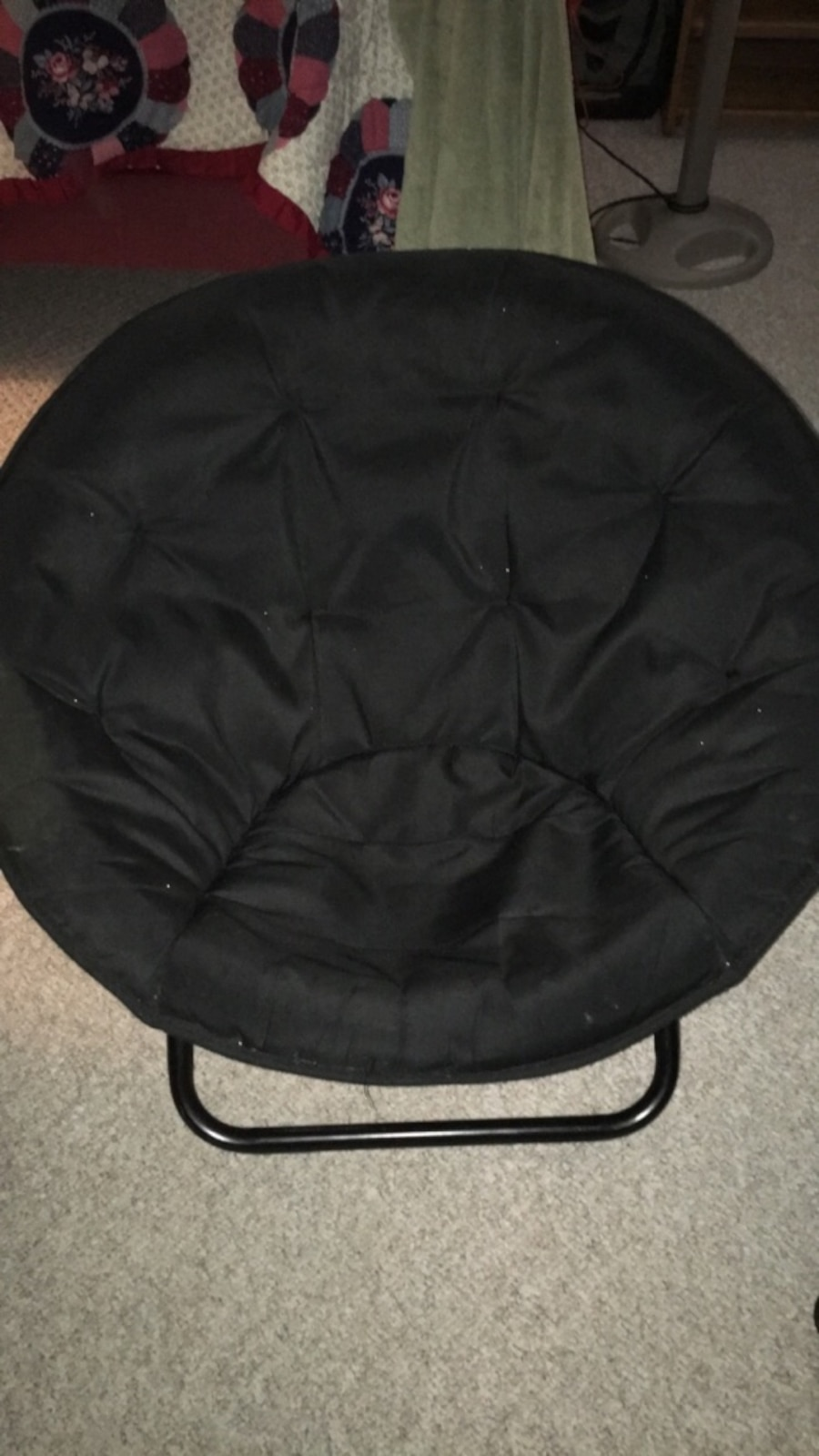 Black moon chair - Description Negotiable Price Black Moon Chair In Great Condition