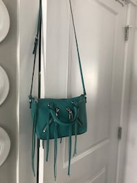 New with tags ~ authentic rebecca minkoff teal leather cross body bag  tags attached, comes with dust bag & extra strap