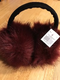 Maroon Winter Ear Muffs Woonsocket