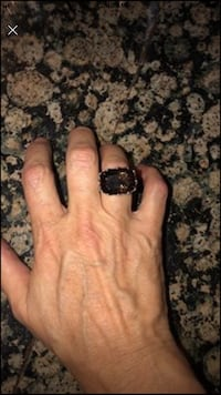 Genuine 19carat smoky quartz and sterling silver stunning ring! Farmers Branch, 75244