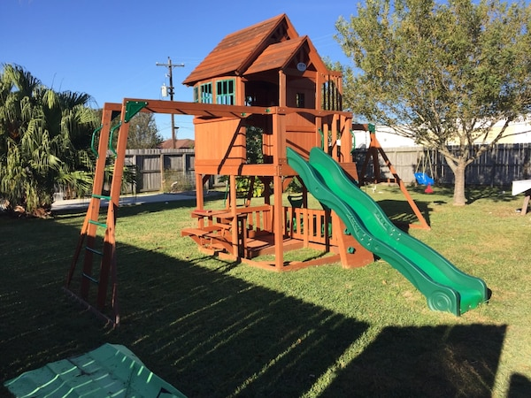 Backyard Discovery Skyfort Ii Cedar Swing Set Play Playground