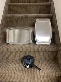 Stainless Steel Serving Tray with wood handle 1 left Marlboro, 07746