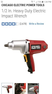 CHICAGO ELECTRIC 1/2in Impact Wrench Mesa, 85202
