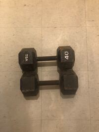 two black fixed weight dumbbells Nueva York, 10009
