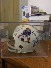 Autographed patriots mini helmet with authentication paperwork