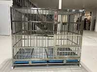 Large stainless steel & stackable Pet's cage null
