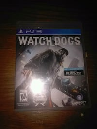 PS3 Watch Dogs case w/game Detroit, 48224