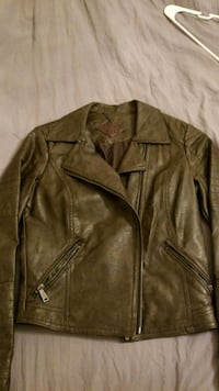 brown leather zip-up jacket Lowell, 01851